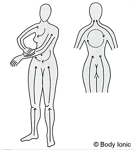 Klosterbürste, Body ionic, Kosmetex Energie Massagebürste Rückenbürste am abnehmbaren Stiel für Trockenmassage