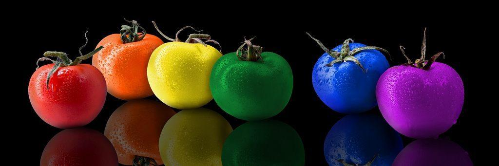 Farben Lebensmittel Wirkung Bunte Tomanten