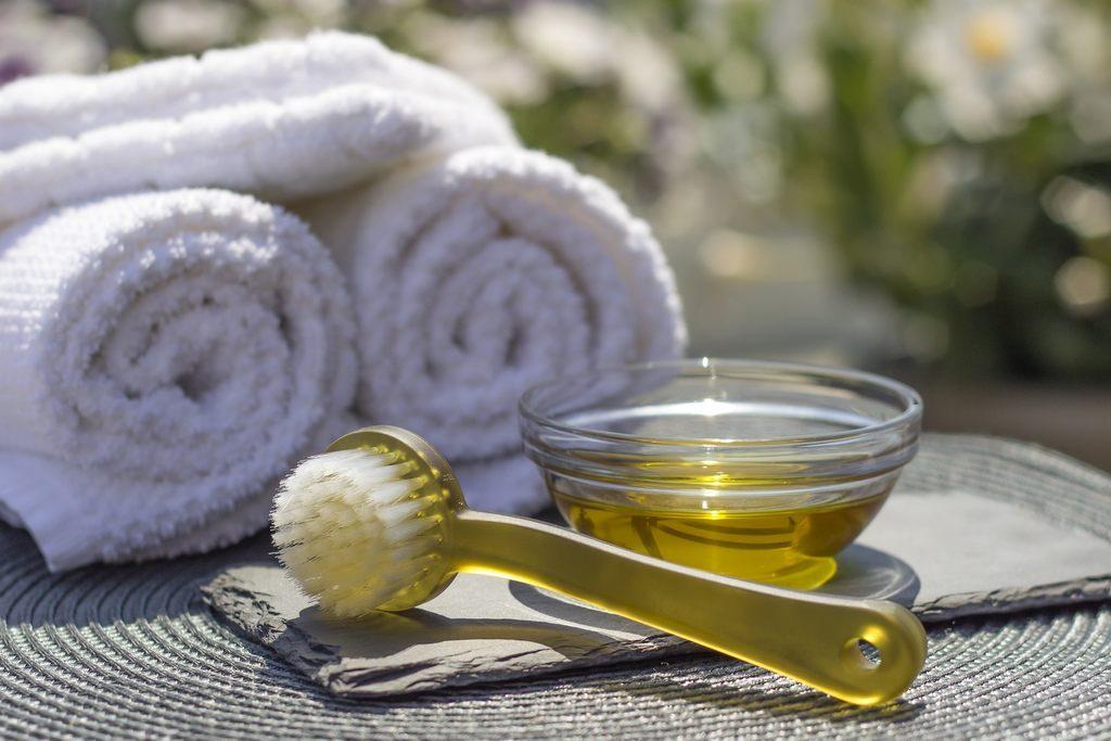 Massage Utensilien Vorbereitung
