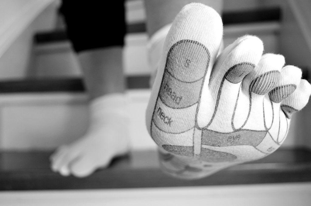 Fußreflexzonenmassage Socken