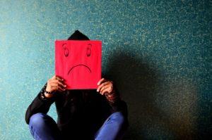 Ein trauriges Gesicht