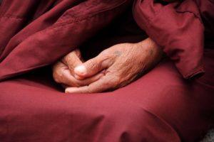 Mönch in Meditation