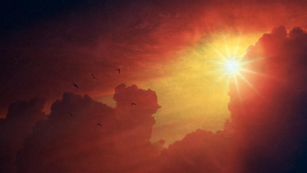 Sonne Himmel macht wach