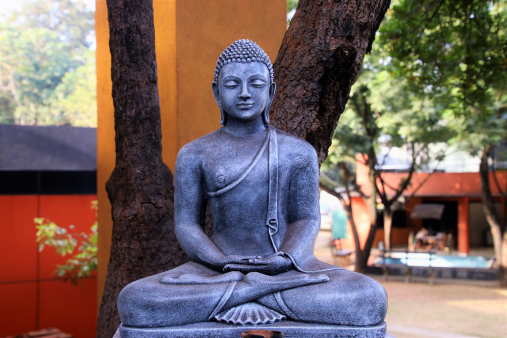 Buddha Sitzmeditation Lotussitz