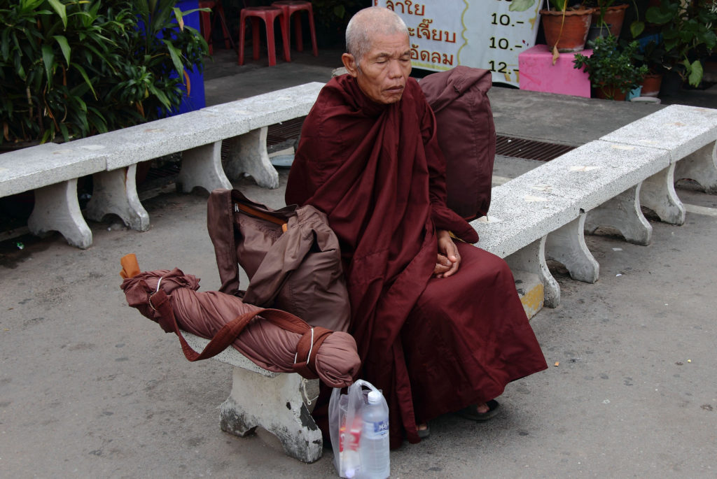 Mönch Sitzmeditation