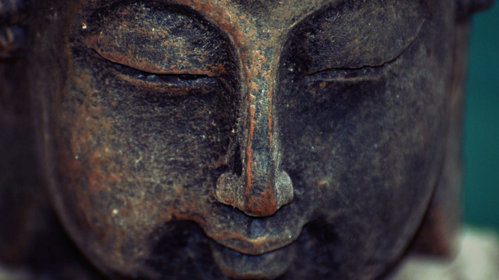 Lächelnder Buddhakopf