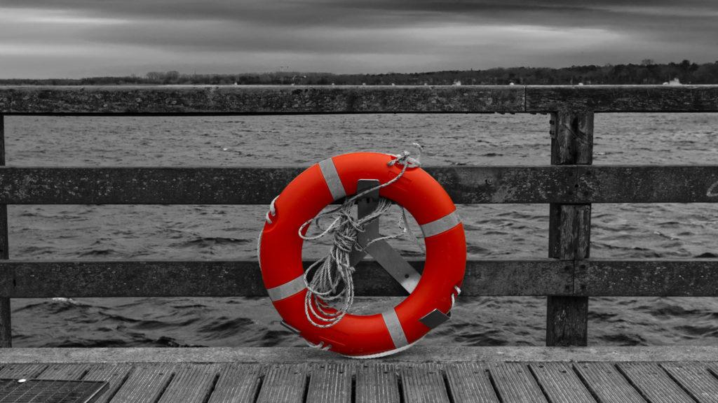 Rettungsring am Meer